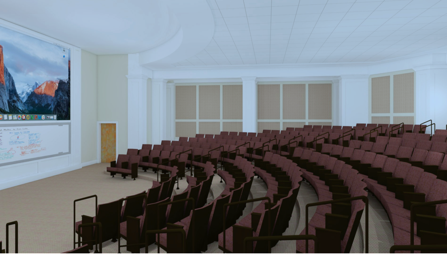 A rendering of a classroom in the BLC