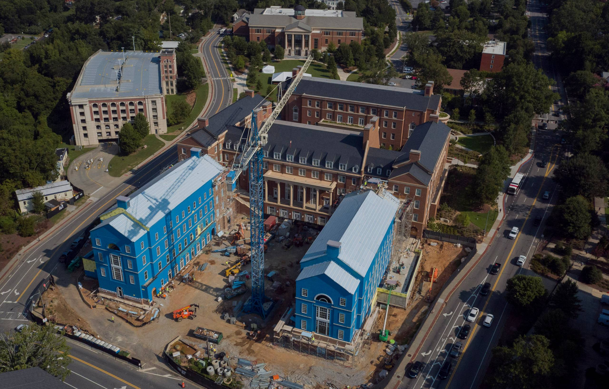 An image of the BLC in construction