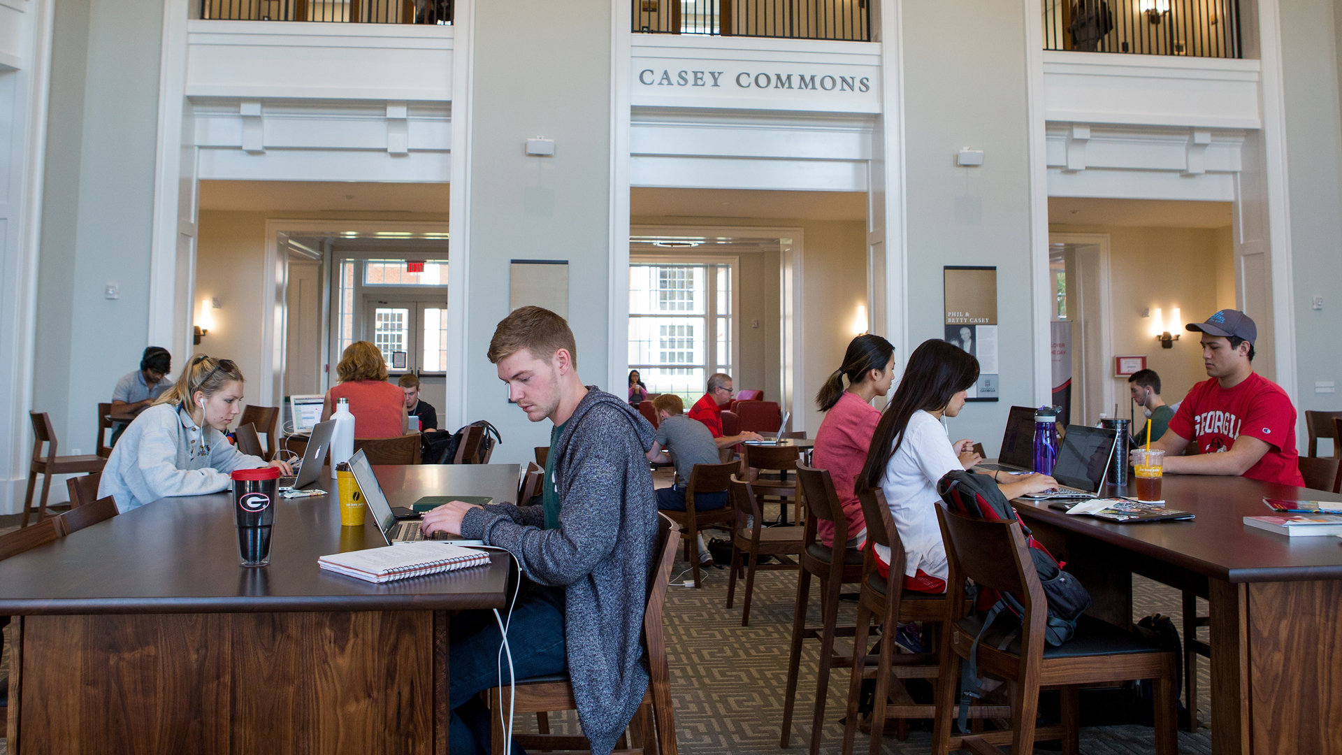 Students study in Casey Commons