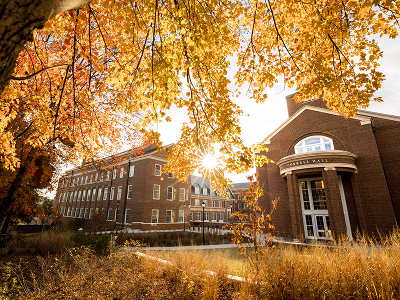 Correll Hall in fall