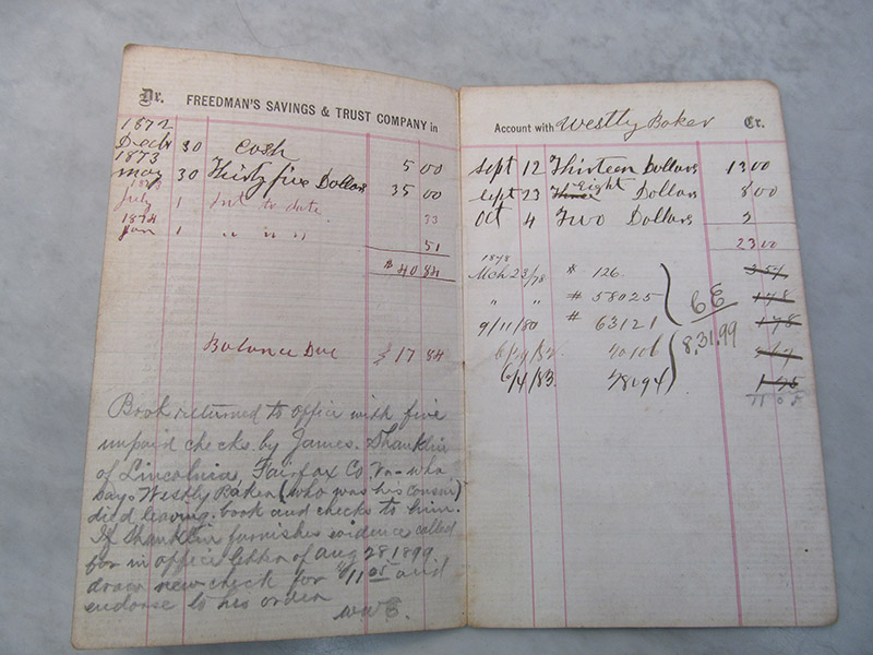 Freedman's Bank Pass Book