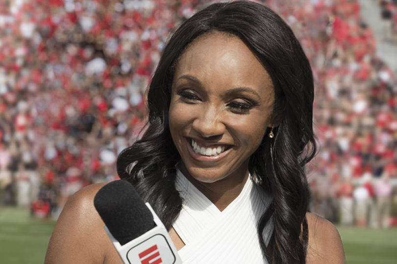 Maria Taylor ABJ '09, MBA '13 is one of ESPN's most prominent, versatile, and well-traveled talents. She makes frequent visits back to UGA, too.