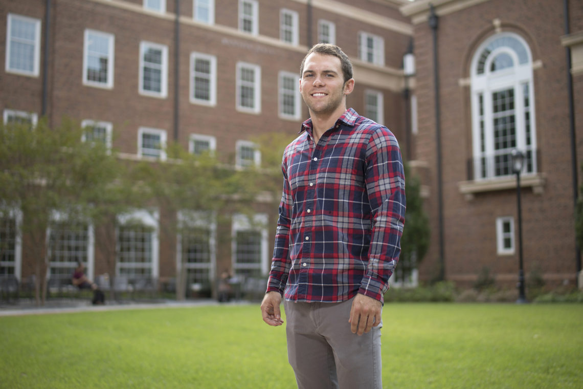 Joshua Anderson helped to liberate Fallujah, but now he's using the same skills he learned in the Air Force to get a risk management and insurance degree at the University of Georgia. (Photo by Peter Frey/UGA)