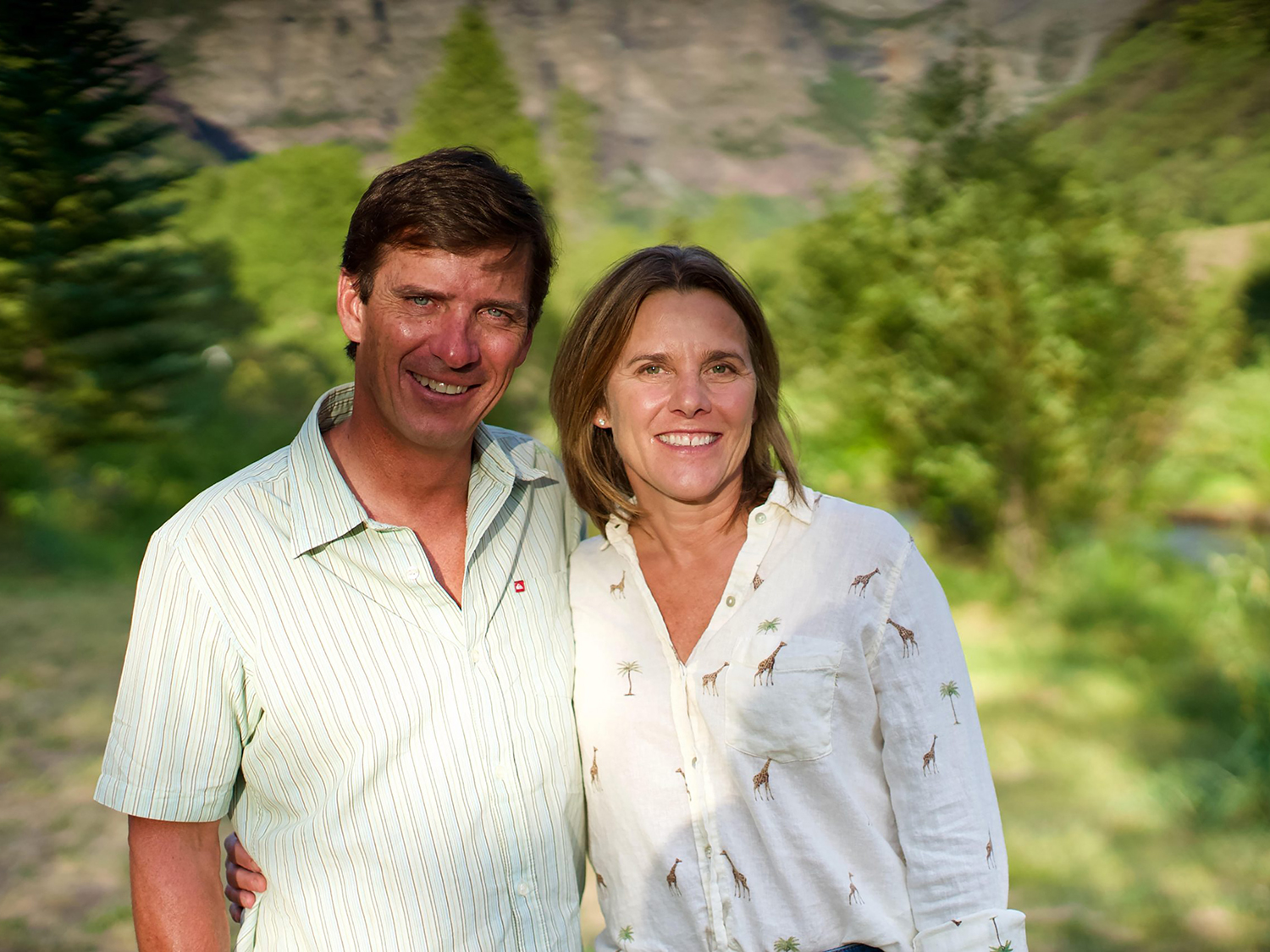 Stuart and Joanna Brown of Telluride, Colorado, have pledged to provide financial resources to launch the environmental initiative and annual funds to support programs at the Terry College of Business. (Submitted photo)