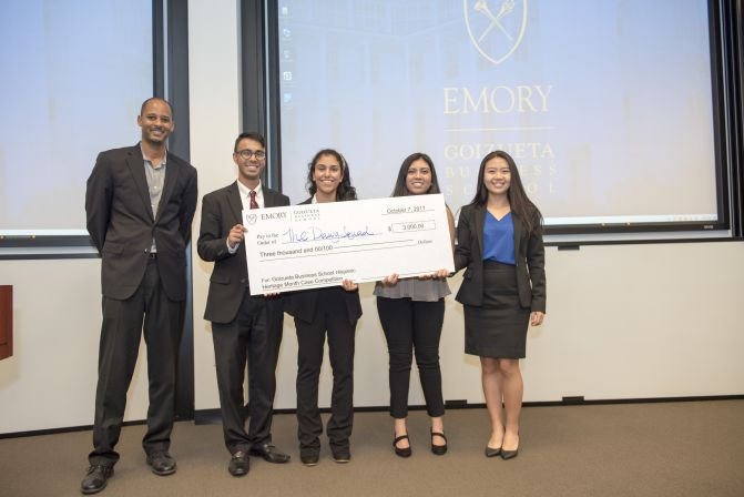 Terry team takes first place in Hispanic Heritage Month Case Competition