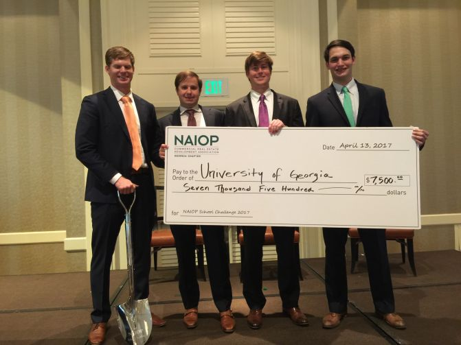 Georgia MBA team takes first place at real estate case competition